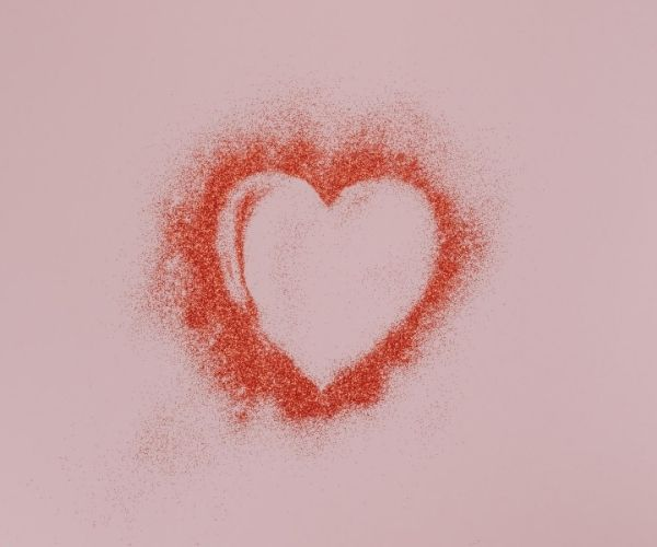 image of a heart on a pink background