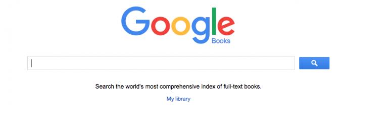 Google Books dashboard