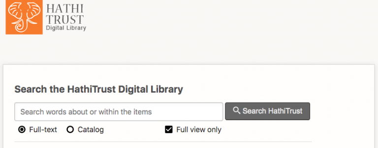 HathiTrust library dashboard