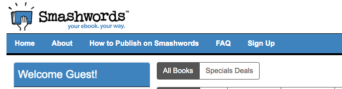 Smashwords dashboard