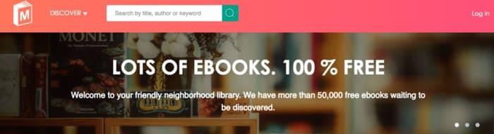 ManyBooks dashboard