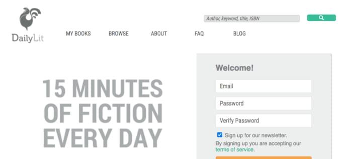 DailyLit dashboard