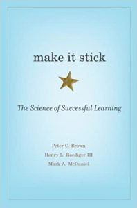 Make It Stick by Peter C. Brown book cover