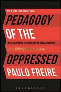 Pedagogy of the Oppressed by Paulo Freire book cover | best education books