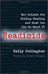 Readicide by Kelly Gallagher book cover