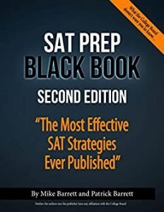 SAT Prep Black Book by Mike and Patrick Barrett book cover