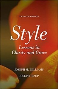 Style- Lessons in Clarity and Grace by Joseph M. Williams book cover