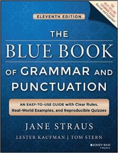 The Blue Book of Grammar and Punctuation by Jane Straus book cover