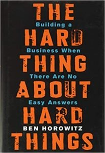The Hard Thing About Hard Things by Ben Horowitz book cover